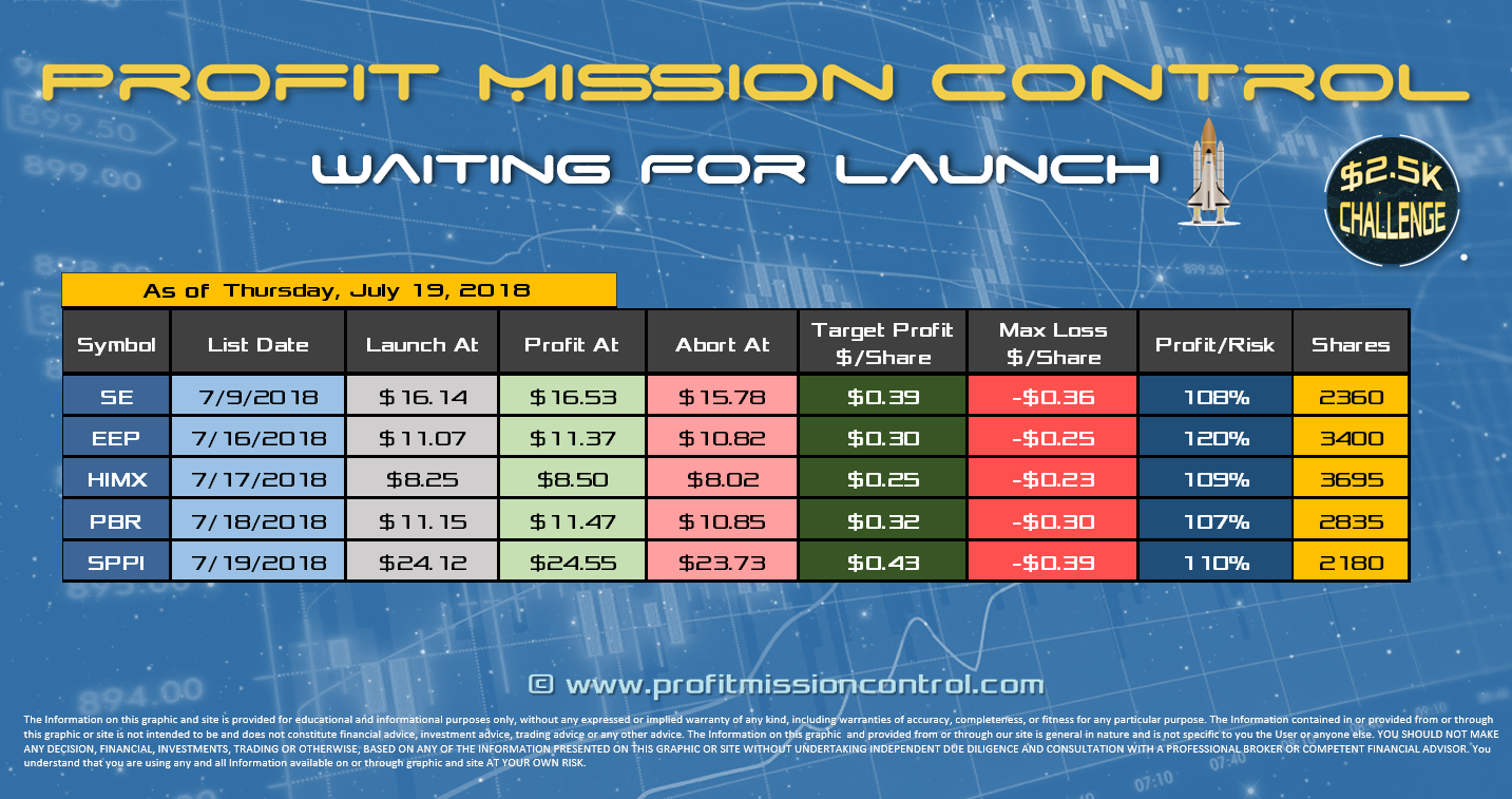 waiting for launch 07-19-2018